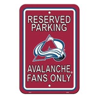 Fremont Die Colorado Avalanche Plastic Parking Sign