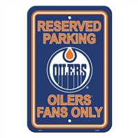 Edmonton Oilers Plastic Parking Sign