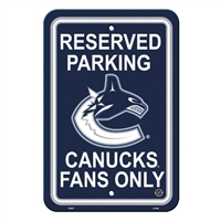 Vancouver Canucks Plastic Parking Sign