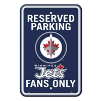 Winnipeg Jets Plastic Parking Sign