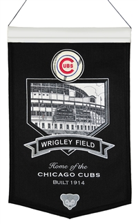 Wrigley Field Stadium Wool Banner