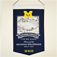 Michigan Stadium Wool Banner