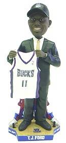 Milwaukee Bucks T.J. Ford Draft Pick Forever Collectibles Bobblehead