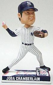 New York Yankees Joba Chamberlain Forever Collectibles On Field Bobblehead