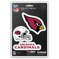 Arizona Cardinals Decal Die Cut Team 3 Pack
