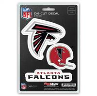 Atlanta Falcons Decal Die Cut Team 3 Pack