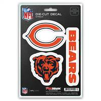 Chicago Bears Decal Die Cut Team 3 Pack