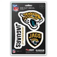 Jacksonville Jaguars Decal Die Cut Team 3 Pack