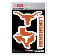 Texas Longhorns Decal Die Cut Team 3 Pack