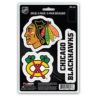 Chicago Blackhawks Decal Die Cut Team 3 Pack
