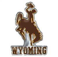 Wyoming Cowboys Auto Emblem Color Alternate Logo - Special Order