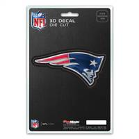 New England Patriots Decal 5x8 Die Cut 3D Logo Design