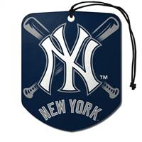 New York Yankees Air Freshener Shield Design 2 Pack