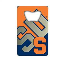 Syracuse Orange Bottle Opener Credit Card Style - Special Order