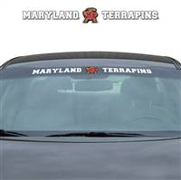 Maryland Terrapins Decal 35x4 Windshield - Special Order