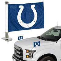 Indianapolis Colts Flag Set 2 Piece Ambassador Style