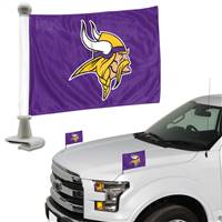 Minnesota Vikings Flag Set 2 Piece Ambassador Style