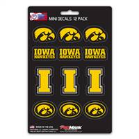 Iowa Hawkeyes Decal Set Mini 12 Pack