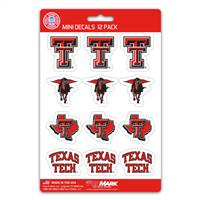 Texas Tech Red Raiders Decal Set Mini 12 Pack - Special Order