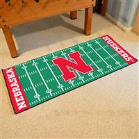 "Nebraska Cornhuskers Football Field Runner Mat 30""x72"""