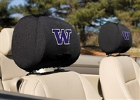 Washington Huskies Headrest Covers Set Of 2