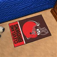 "Cleveland Browns Starter Rug 20""x30"", Uniform Inspired Design"