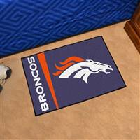 "Denver Broncos Starter Rug 20""x30"", Uniform Inspired Design"
