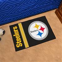 "Pittsburgh Steelers Starter Rug 20""x30"", Uniform Inspired Design"
