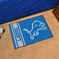 "Detroit Lions Starter Rug 20""x30"", Uniform Inspired Design"