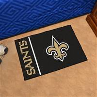 "New Orleans Saints Starter Rug Uniform Inspired Design 20""x30"""