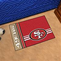 "San Francisco 49ers Starter Rug 20""x30"" Uniform Inspired Design"
