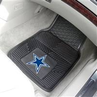 "Dallas Cowboys Heavy Duty 2-Piece Vinyl Car Mats 18""x27"""
