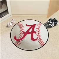 "Alabama Crimson Tide Baseball Rug 29"" Diameter"