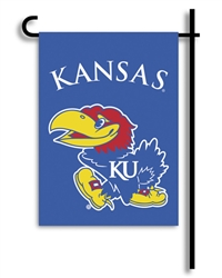 Kansas Jayhawks 2-Sided Garden Flag
