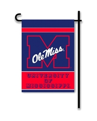 Mississippi Rebels 2-Sided Garden Flag