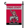 Ohio State Brutus 2-Sided Garden Flag