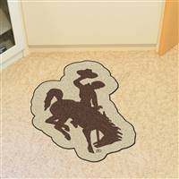 "University of Wyoming Mascot Mat 26"" x 40"""