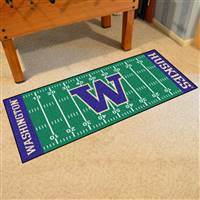 "Washington Huskies Football Field Runner Mat 30""x72"""