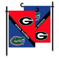 Georgia - Florida 2-Sided Garden Flag - Rivalry House Divided