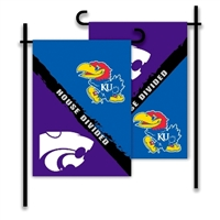 Kansas - Kansas St. 2-Sided Garden Flag - Rivalry House Divided