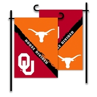 Oklahoma - Texas 2-Sided Garden Flag - Rivalry House Divided