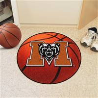 "Mercer Bears Basketball Rug 29"" diameter"