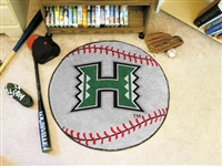 "Hawaii Warriors Baseball Rug 29"" Diameter"