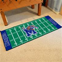 "Memphis Tigers Football Field Runner Mat 30""x72"""