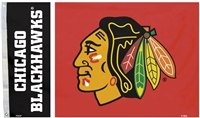 Chicago Blackhawks 3 Ft. X 5 Ft. Flag W/Grommetts
