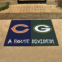 "NFL House Divided - Bears / Packers House Divided Mat 33.75""x42.5"""