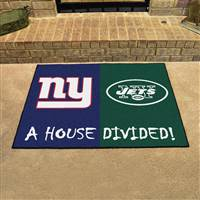 "New York Giants - New York Jets House Divided Rug 34""x45"""