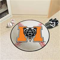"Mercer Bears Baseball Rug 29"" diameter"