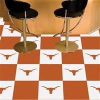 "Texas Longhorns Carpet Tiles 18""x18"" tiles, Covers 45 Sq. Ft."