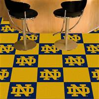 "Notre Dame Team Carpet Tiles 18""x18"" tiles"